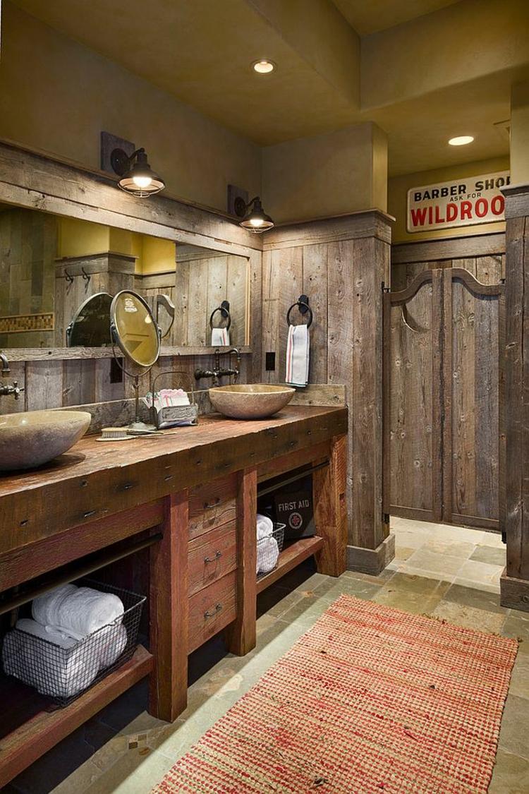 ausgefallene badmbel rustikal badeinrichtung lufer - Rustikale Badezimmermoebel