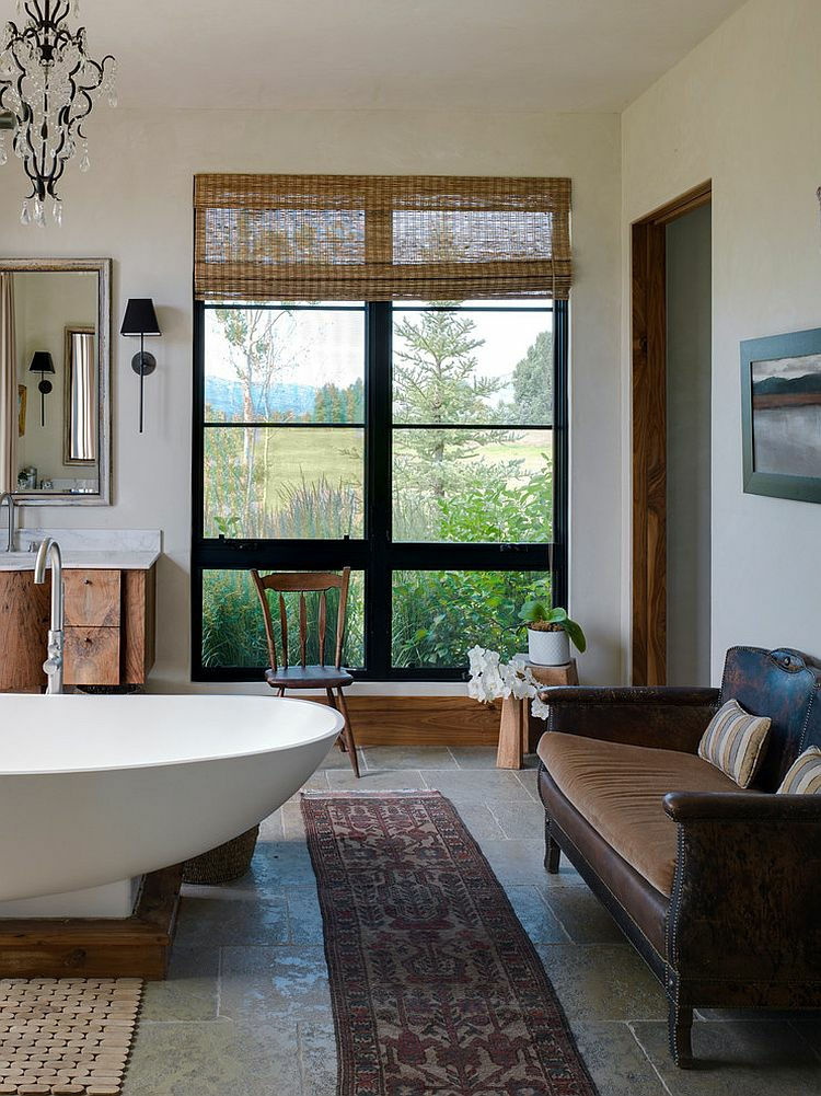 ausgefallene badmöbel rustikal badeinrichtung sofa