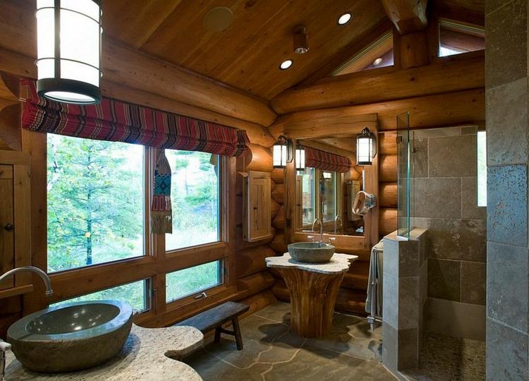 ausgefallene badmöbel rustikal badeinrichtung