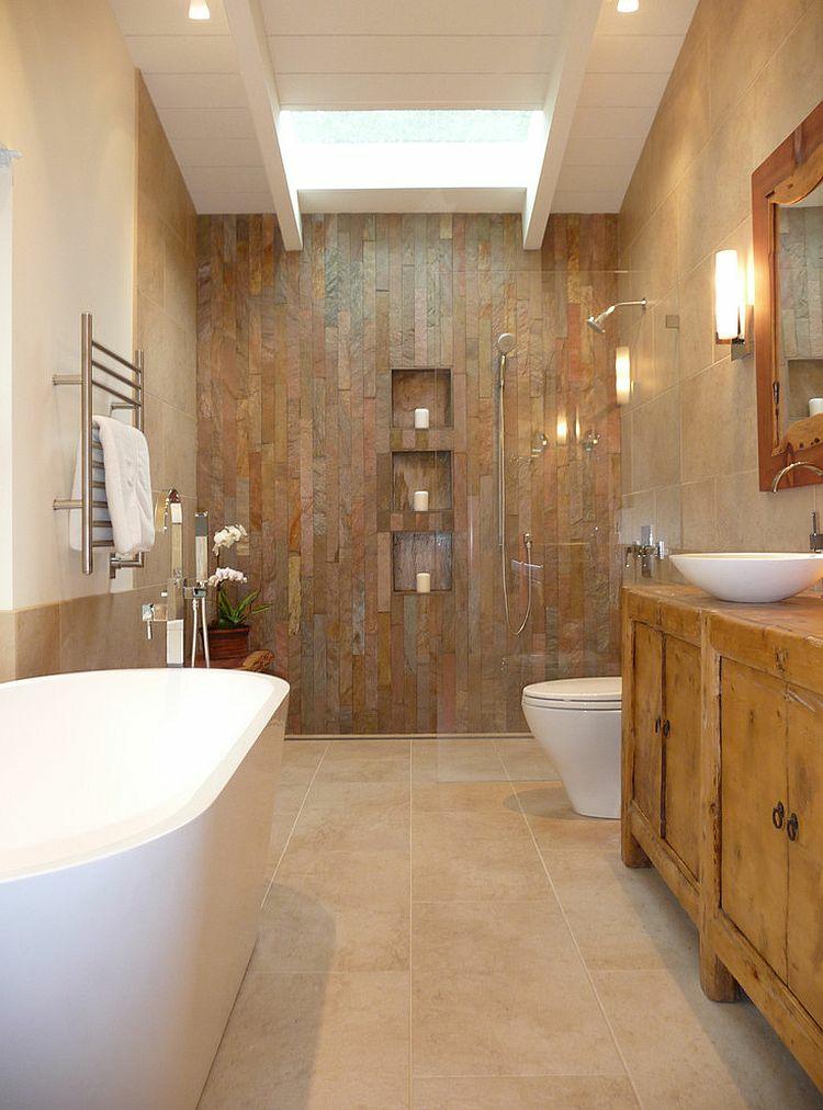 ausgefallene badmöbel rustikal waschtisch holz