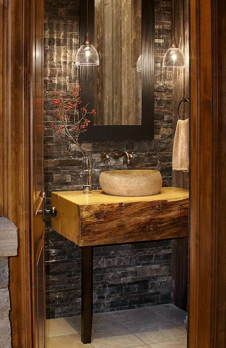 ausgefallene badmöbel rustikal waschtisch