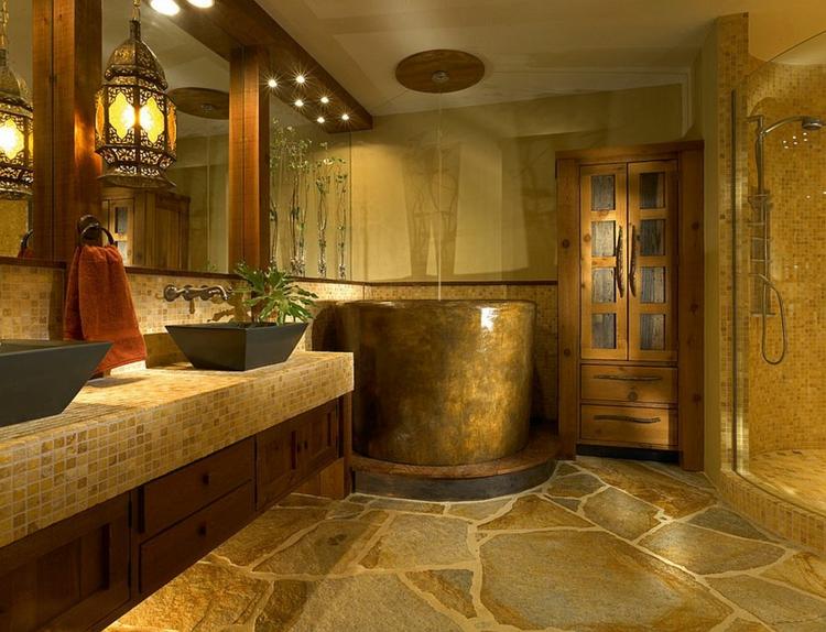 ausgefallene badmöbel rustikale badeinrichtung
