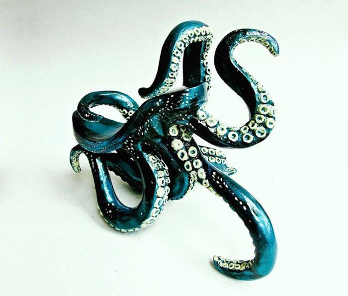 ausgefallene schuhe art design oktopus