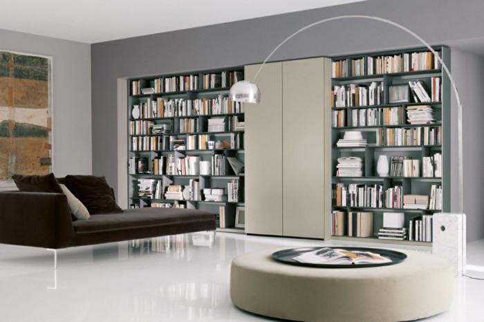 bücherregale bibliothek wohnzimmer einrichten luxuriöses interieur