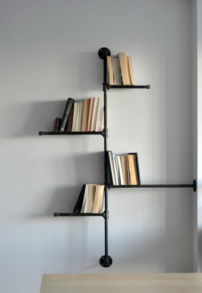 platzsparende einrichtung ideen regalsysteme buchsammlung, coole regalsysteme und bücherregale hauchen dem interieur leben ein, Design ideen