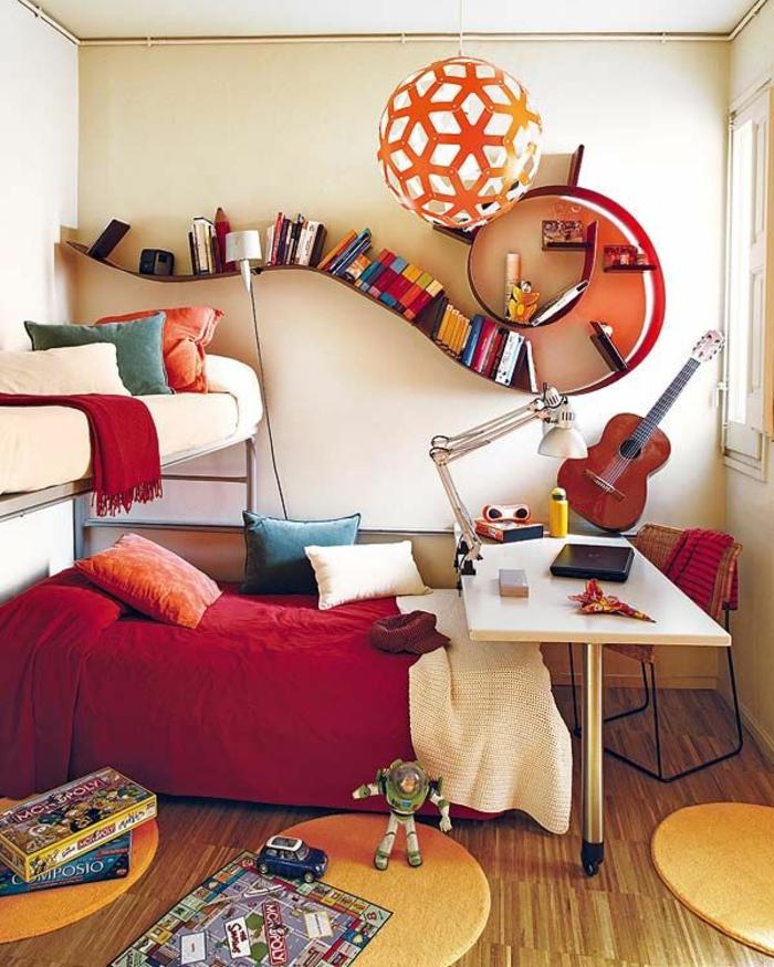bücherregale cooles design jungenzimmer gestalten