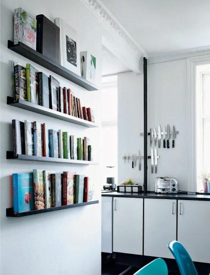 wandregale design offene regale küche essbereich
