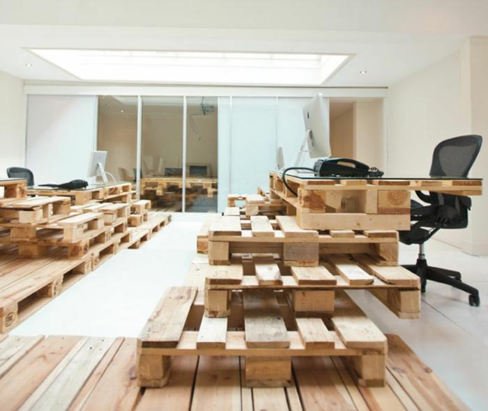 büroeinrichtung aus paletten diy möbel