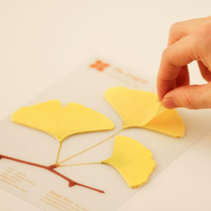 bürozubehör klebenotizen gelb pa design ginko