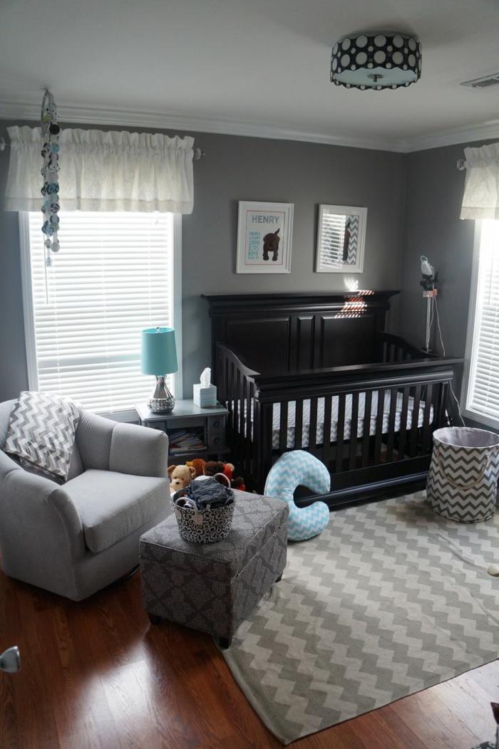 Babyzimmer ideen gestalten sie ein gem tliches und for Blau grau wandfarbe