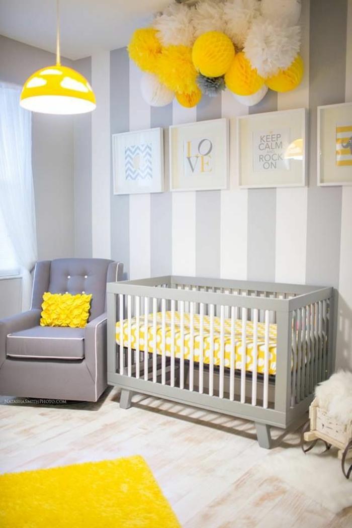 babyzimmer komplett einrichten gelbe farbakzente