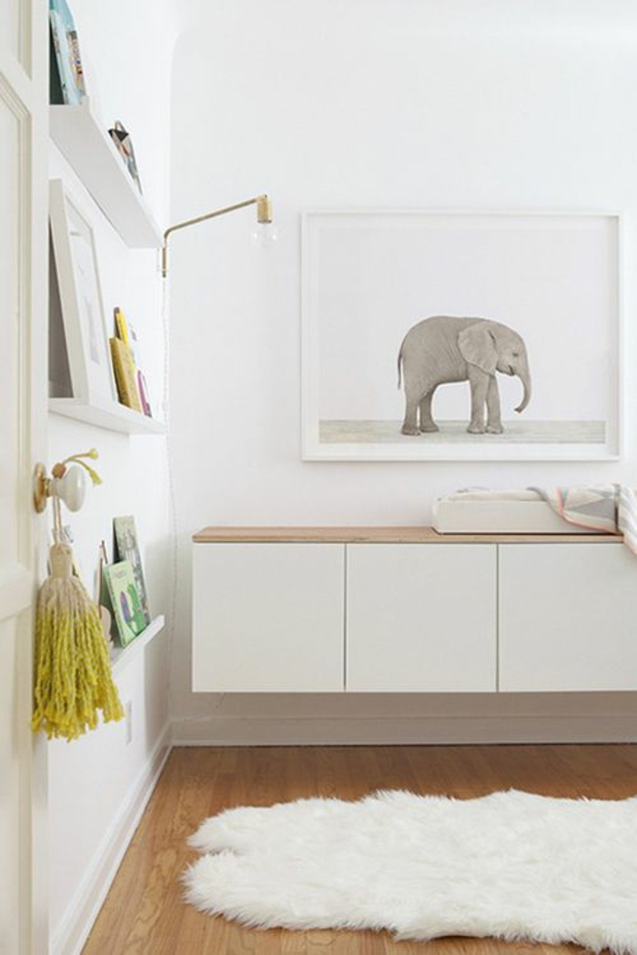 babyzimmer komplett einrichten wanddeko ideen wandfarbe weiß