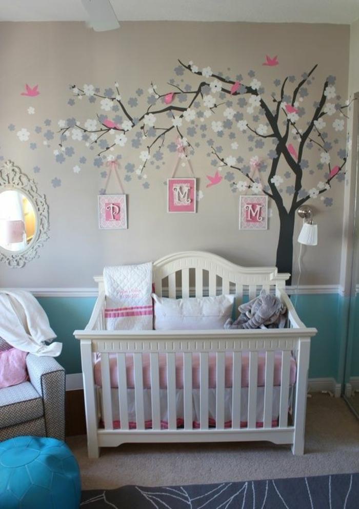 Babyzimmer ideen wandgestaltung  Babyzimmer Ideen: Gestalten Sie ein gemütliches und kindersicheres ...