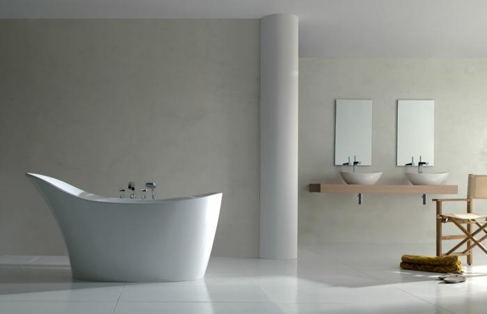 badezimmermöbel coole badewanne waschtisch wandspiegel
