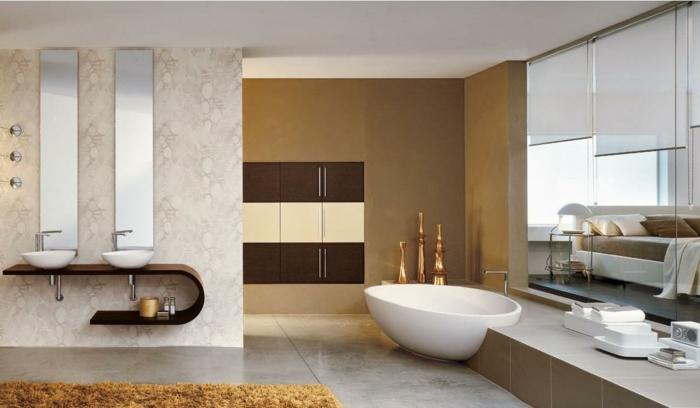 badezimmermöbel cooler waschtisch goldene elemente
