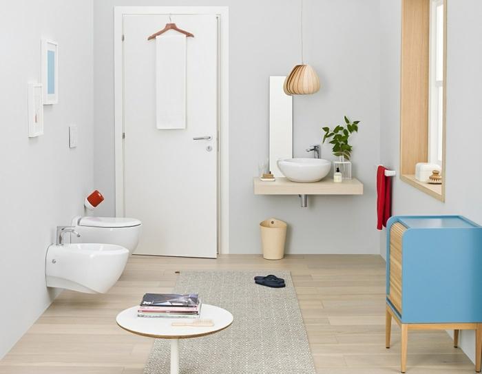 badezimmermöbel kleines bad einrichten moderne möbel teppichläufer
