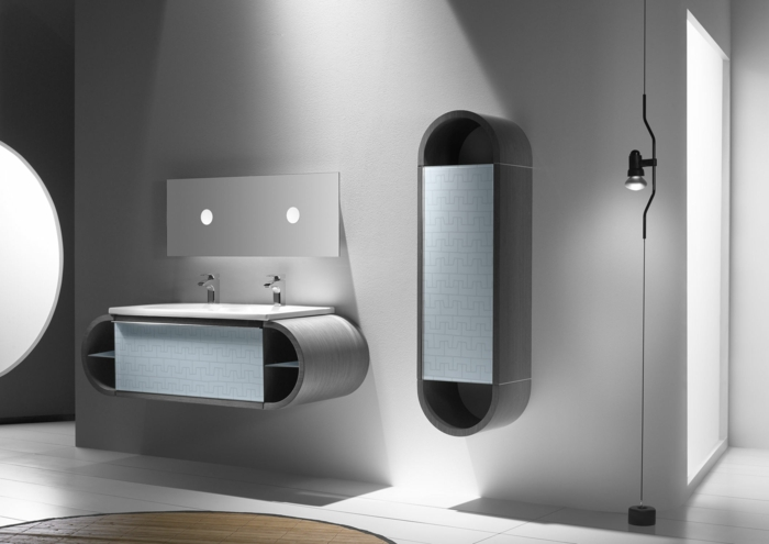 badezimmermöbel modernes design großes bad gestalten