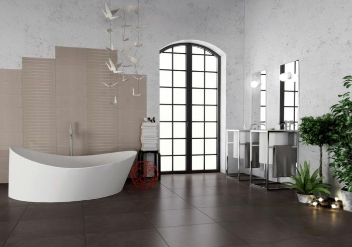 badezimmermöbel schöne badewanne coole dekoideen beistelltische