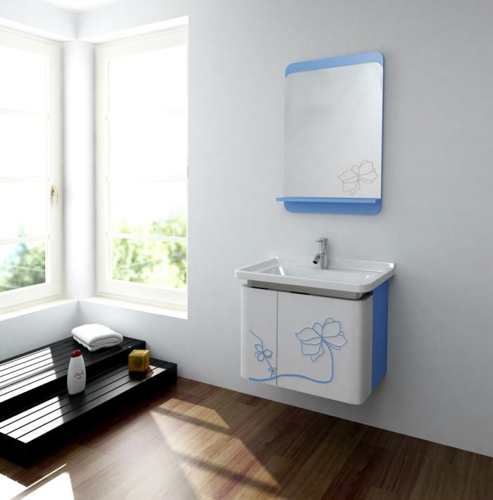 badezimmermöbel tolles waschbecken waschbeckenunterschrank florale elemnente