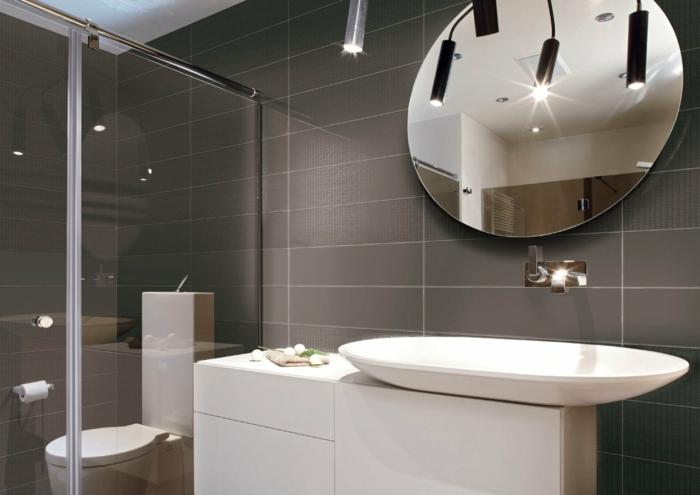 badezimmermöbel waschbecken duschwand wandspiegel