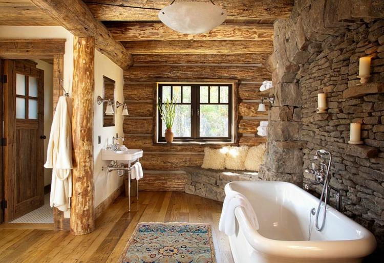 badmöbel rustikal badeinrichtung modern
