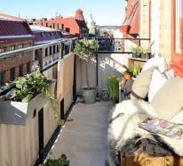 Einfache nördliche Balkongestaltung Ideen für kleine Flächen