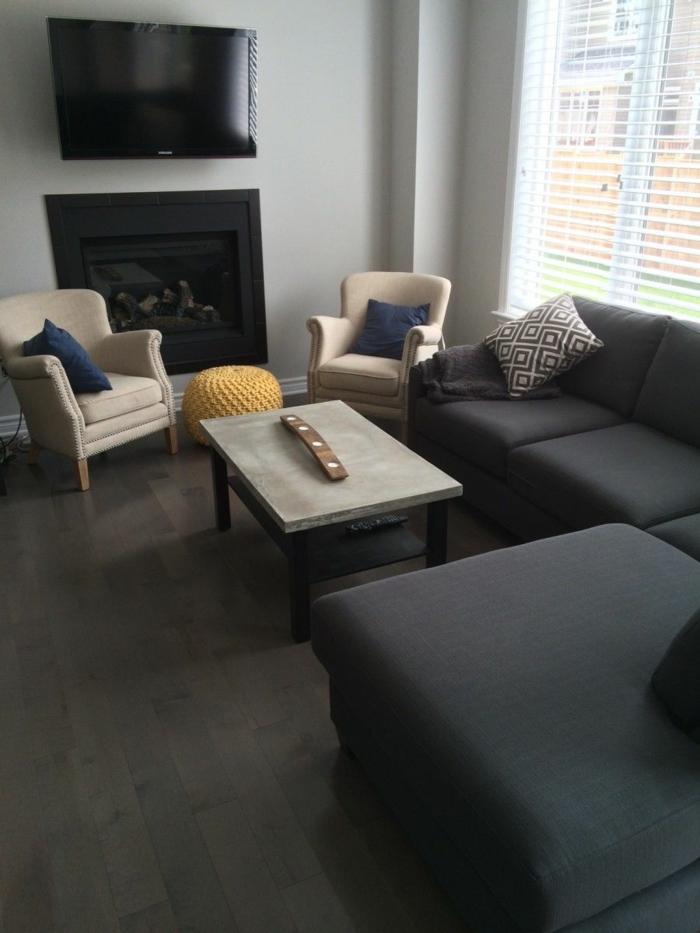 der beton couchtisch bescheidene eleganz und stilvolles design. Black Bedroom Furniture Sets. Home Design Ideas