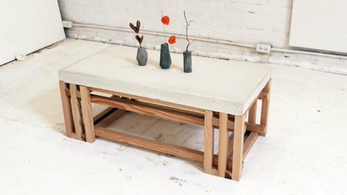 Der beton couchtisch bescheidene eleganz und stilvolles for Couchtisch holzbeine