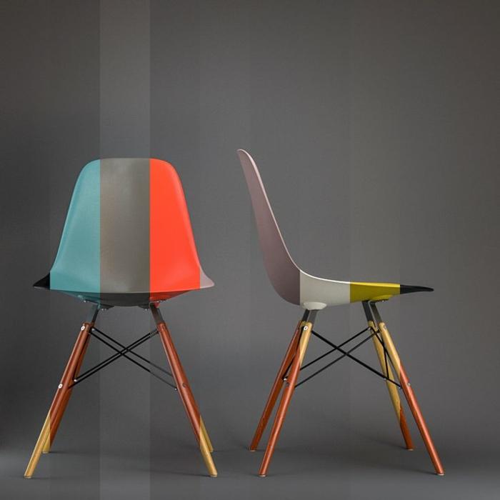charles ray eames designermöbel Eames Chair bunt streifen