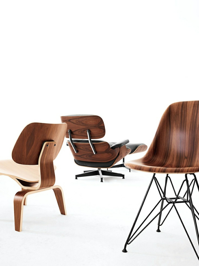 charles ray eames designermöbel Eames stühle holzmasserung muster