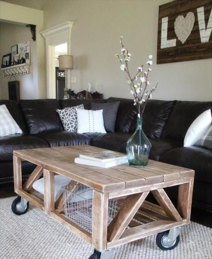 couchtisch möbel aus paletten holztisch selber bauen