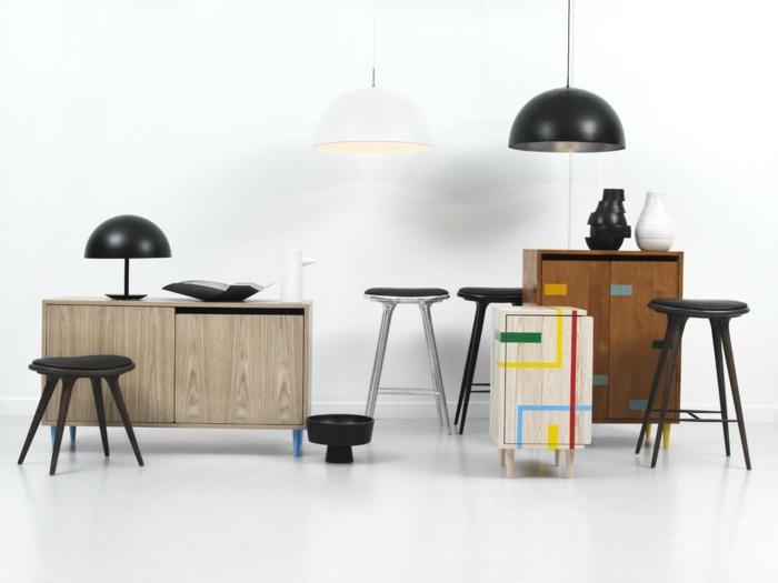 dänische möbel anrichten konsole stühle hängeleuchten