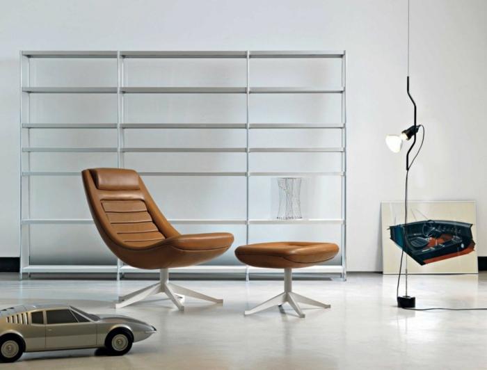 dänische möbel designer ledersessel