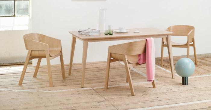 dänische möbel helles holz tisch stühle