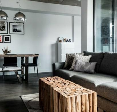 dachwohnung einrichten ideen aus einer loft wohnung in. Black Bedroom Furniture Sets. Home Design Ideas