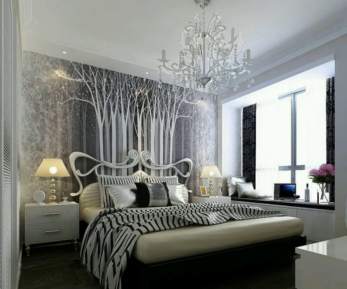 schlafzimmer dekorieren sparsam aber mit geschmack. Black Bedroom Furniture Sets. Home Design Ideas