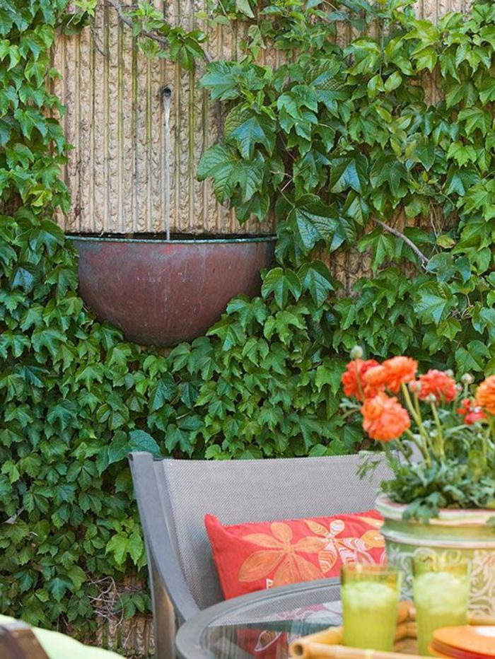 wandbrunnen elegante ideen wie sie den au enbereich. Black Bedroom Furniture Sets. Home Design Ideas