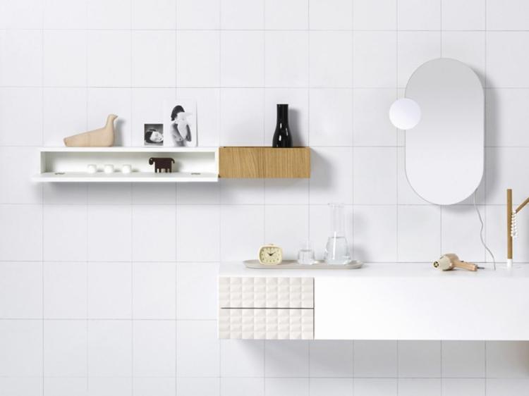 designer badmöbel InGrid badezimmer möbel badfliesen holz regal