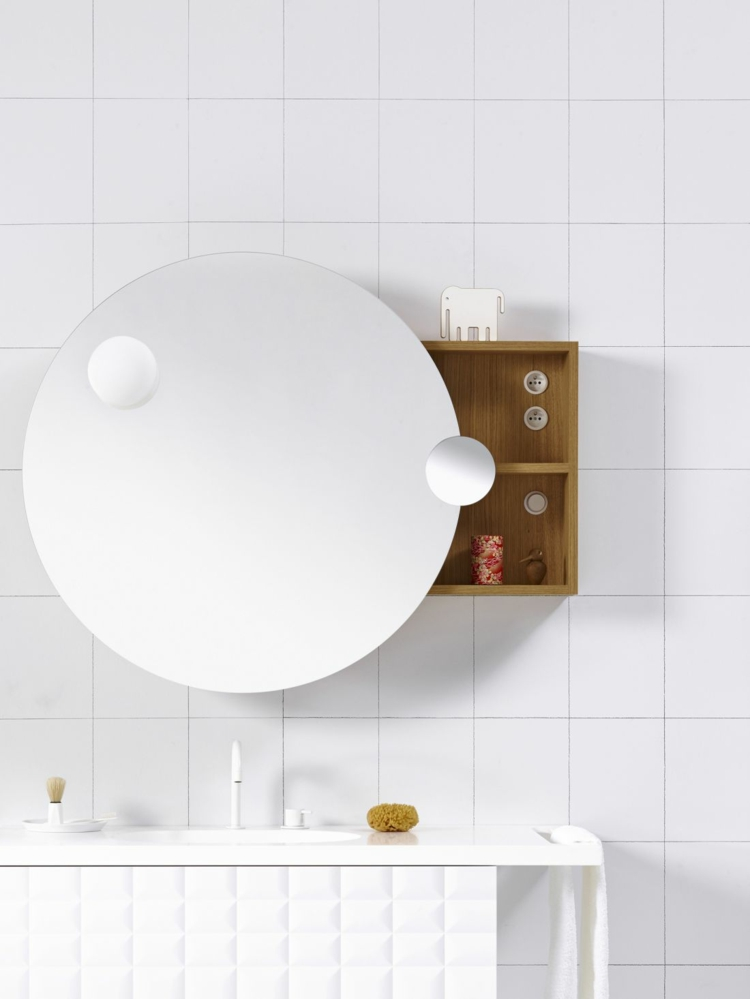 designer badmöbel InGrid badezimmer möbel badspiegel rund