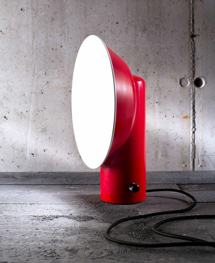 designer leuchten alessandro zambelli tischlampe rot