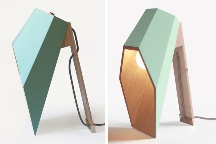 designer leuchten alessandro zambelli tischlampen aus holz minzgrün