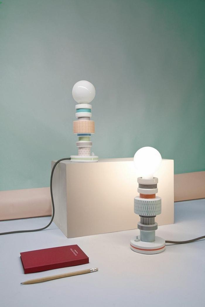 designer leuchten alessandro zambelli tischlampen aus holz teilen