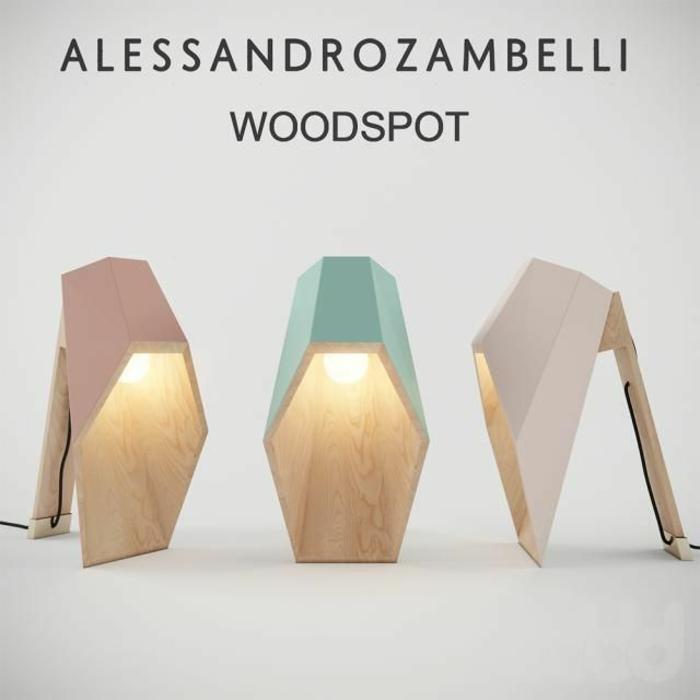 designer leuchten alessandro zambelli tischlampen aus holz woodspot