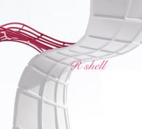 """Designer Stuhl """"R Shell Chair"""" von Eva Chou"""