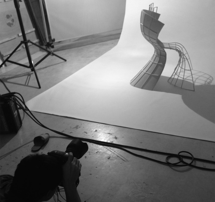 designer stuhl von eva chou r shell chair foto shooting