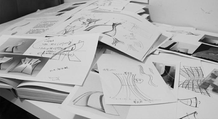 designer stuhl von eva chou r shell chair skizzen