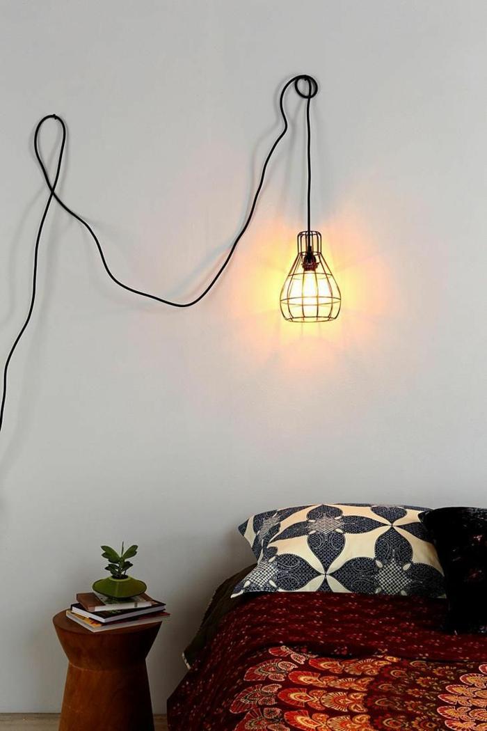 tolle do it yourself deko aus kabeln und seilen f r die wand. Black Bedroom Furniture Sets. Home Design Ideas