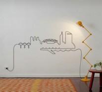 Tolle do it yourself deko aus kabeln und seilen fr die wand facebook twitter google pinterest solutioingenieria Images