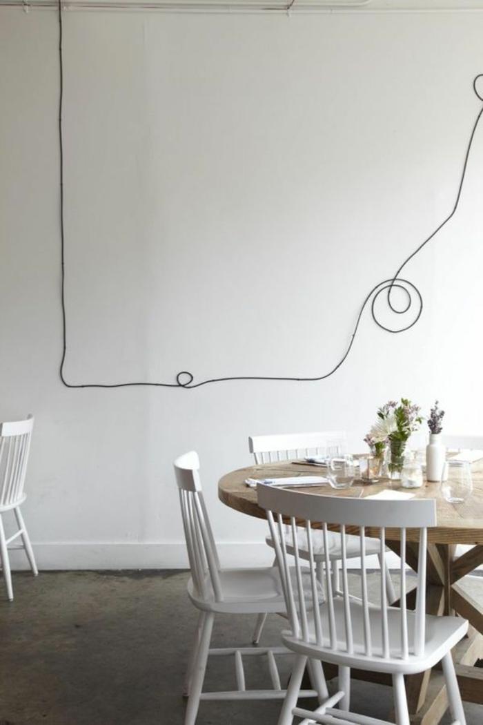 Tolle Do it yourself Deko aus Kabeln und Seilen für die Wand