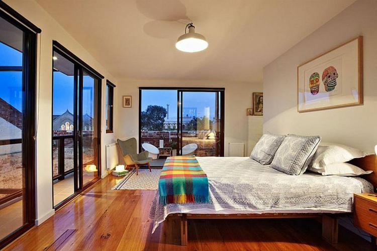 einrichtungstipps wohnung industrial style möbel bricksteinwände schlafzimmer